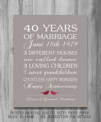 40th anniversary gifts for parents 40th wedding anniversary gifts parents 40th anniversary