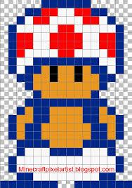 minecraft pixel art templates and tutorials toad minecraft pixel