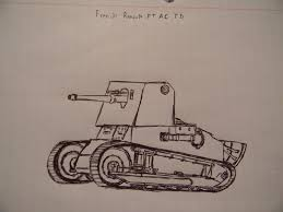 french renault tank french wwii renault ft ac tank destroyer by neyowargear on deviantart