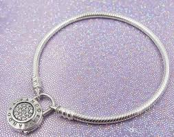 sterling pandora style bracelet images 2018 925 sterling silver signature padlock bracelet with cz clasp jpg