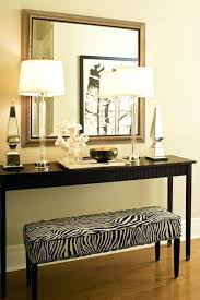 Foyer Entry Tables Entry Table Lamps Chic Foyer Features A Long Zebra Bench Tucked