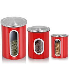 orange kitchen canisters amazon com anchor hocking palladian glass and stainless steel