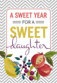 here u0027s to a sweet year rosh hashanah card for daughter greeting