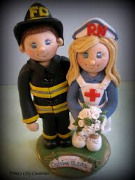 fireman cake topper s trinketts and firefighter wedding cake toppers