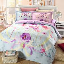 Blue And Purple Comforter Sets Queen Size Light Blue And Purple Floral Bedding Set Ebeddingsets