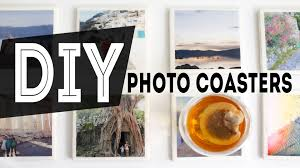 diy home decor photo coasters gift idea ann le youtube