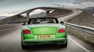 green bentley 2016 bentley continental gt speed convertible apple green rear
