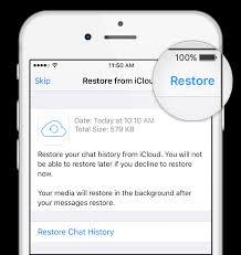 whatsapp faq restoring your chat history