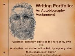 writing portfolio an autobiography course ppt download