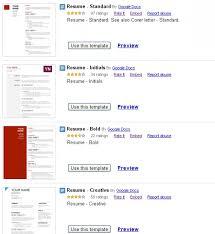 Google Docs Resume Template Google Docs Resume Templates Resume Example