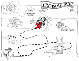 pirate treasure map to print kids coloring europe travel