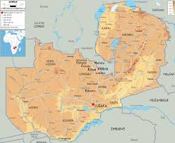 Geographical Map Of South America Physical Map Of Zambia Ezilon Maps