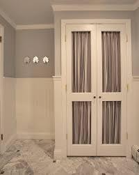 Fabric Closet Doors Linen Closet Doors Powder Room Traditional With Beadboard Closet
