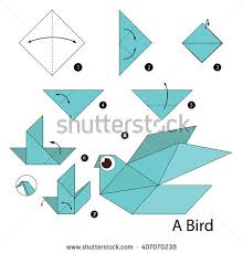Step By Step Origami For - origami stock images royalty free images vectors