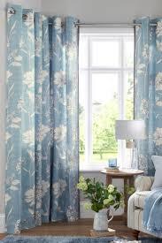 Powder Blue Curtains Decor Cotton Blue Dotty Stripe Eyelet Curtains Next Homedesignview Co