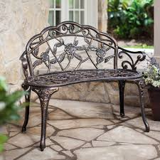this wonderful and modern antique gold garden bench has a