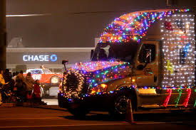 christmas lights parade in keizer oregon editorial stock image