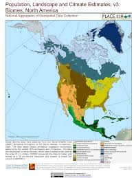 United States Climate Regions Map by Biomes North America Biomes