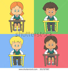 child sitting clipart children on wooden boxes illustration stock vector 332717222