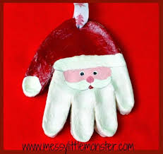 the 25 best santa handprint ornament ideas on santa