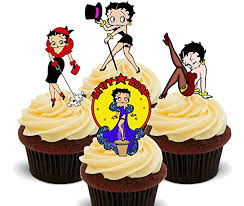 betty boop cake topper betty boop edible cupcake toppers stand up wafer
