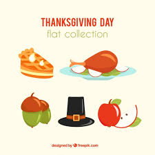items and thanksgiving food vector free
