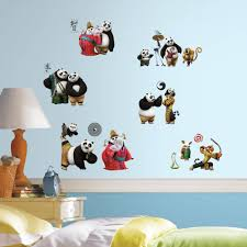 roommates decor kung fu panda 3 peel and stick wall decals