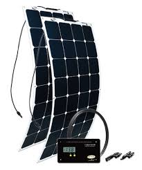 Solar Powered Rv Awning Lights 200w Flexible Mono Crystalline Solar Kit Solar Rv Solar Panels