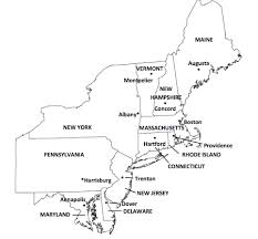 map of northeast us states with capitals northeast region mr l s 4th grade