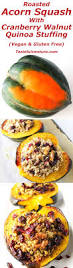 quinoa thanksgiving stuffing roasted acorn squash with cranberry walnut quinoa stuffing