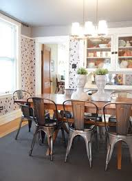 dining table with metal chairs metal dining room chairs 2 breathtaking 8 nicole 4 roomjpg jpg