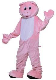 xxl halloween costumes deluxe pig mascot costume