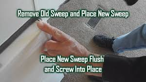 Exterior Door Sweeps by How To Change A Door Sweep Youtube