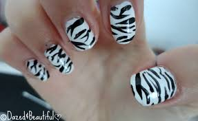 zebra print nails u2013 dazed u0026beautiful