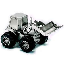 engraved piggy bank pewter tractor piggy bank engraved gift collection