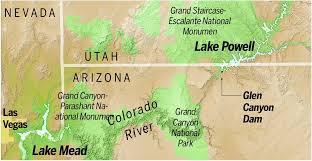 lake mead map file map lake mead lake powell river jpg glen dam amp