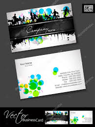 professional business cards template or visiting card set and