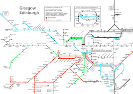 Map Of Glasgow Scotland Rail Map Covering Glasgow Prestwick And Motherwell