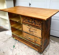 rustic kitchen islands and carts how to turn an dresser into a rustic kitchen island cart