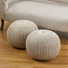 coffee tables round rattan wicker ottoman leather cocktail