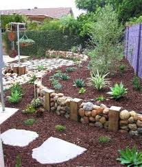 Rustic Landscaping Ideas For A Backyard Landscape Mulch Ideas Rustic Landscape Yard With Fence 7 Cu Yd