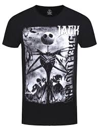 nightmare before skellington s black t shirt buy
