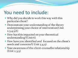 How Theory Underpins Counselling Skills And Techniques And Attitudes Level 4 Diploma In Therapeutic Counselling Ppt