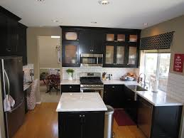 White Kitchen Cabinets And Black Countertops Wood Look Tile Design Ideas