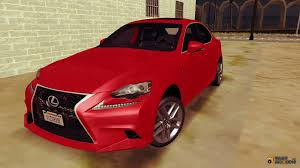 red lexus is 350 is350 f sport 2014 for gta san andreas