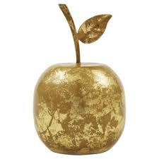 buy gold apple ornament from our ornaments figurines range tesco