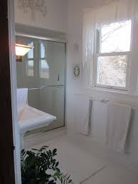 White On White Bathroom by Garden Fancy My New White Plant Filled Bathroom