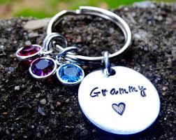 personalized birthstone keychains bracelet birthstone etsy