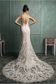 low back wedding dresses mermaid v neck low back lace wedding dress with buttons
