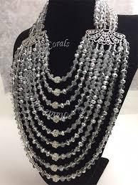 crystal rhinestone statement necklace images Bianca silver crystal beads rhinestone statement necklace set jpg
